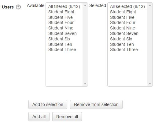 Bulk User Action in Moodle or Totara Learn Selection