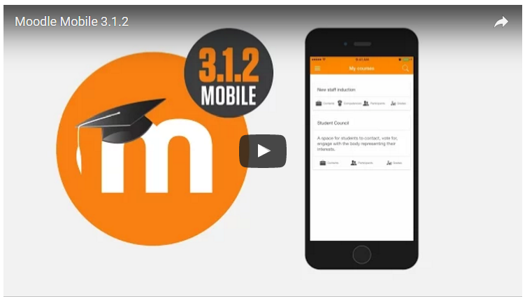 Moodle Mobile 3.1.2 Release Video