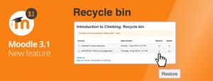 Recycle Bin Moodle 3.1