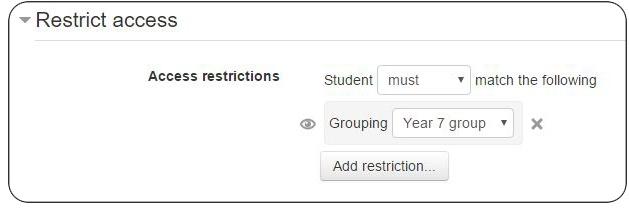 Restrict Access Moodle Education