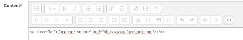 Social Media Icon Content