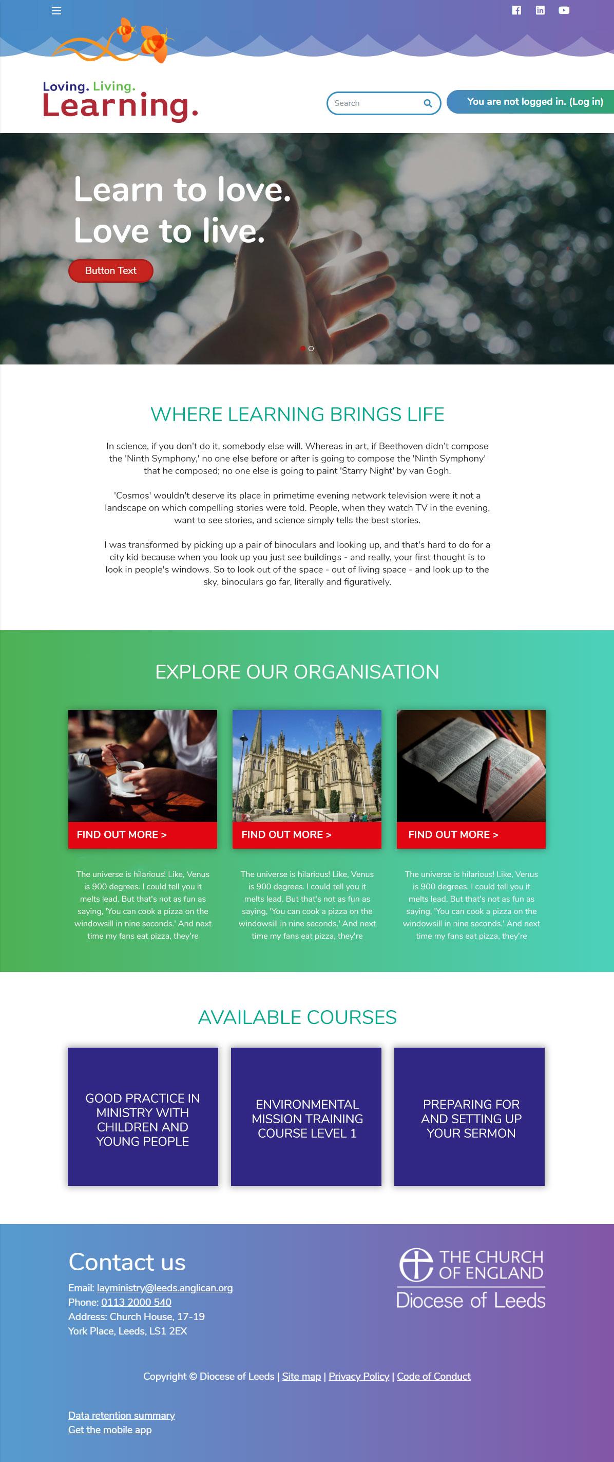 Brand It - Leeds Diocese - Desktop
