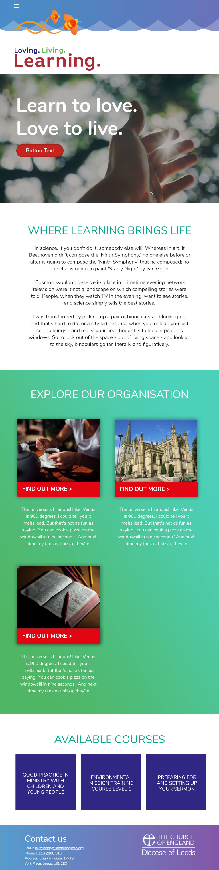 Brand It - Leeds Diocese - Tablet