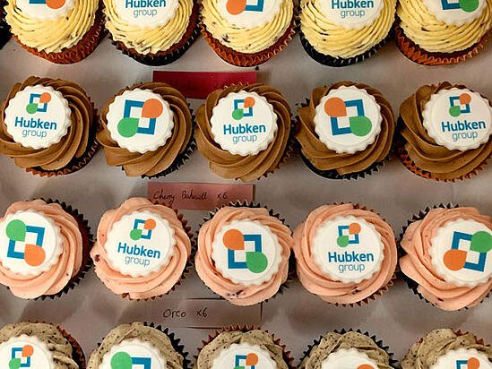 Hubken Group - Hubken cupcakes at our celebration party