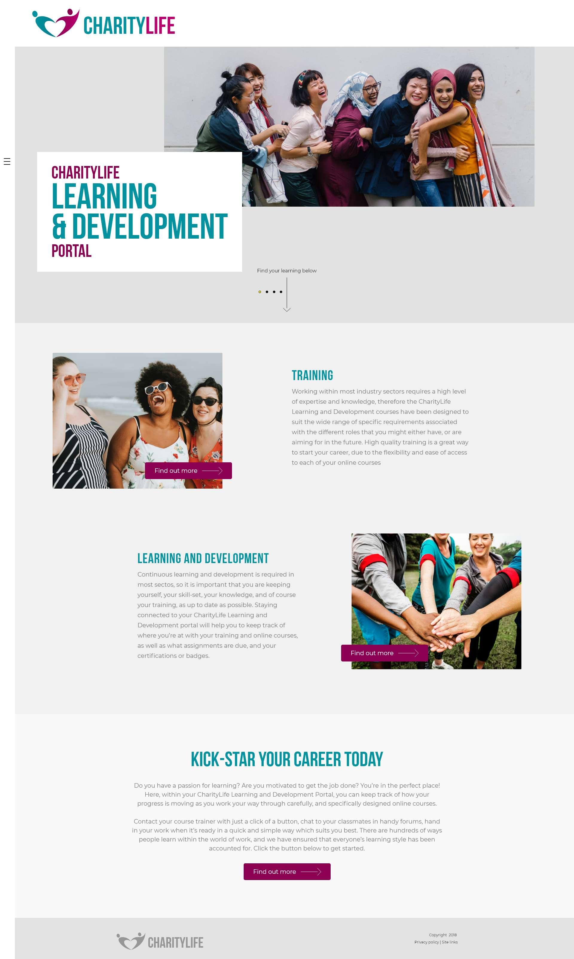 Design It - Charity Life - Desktop