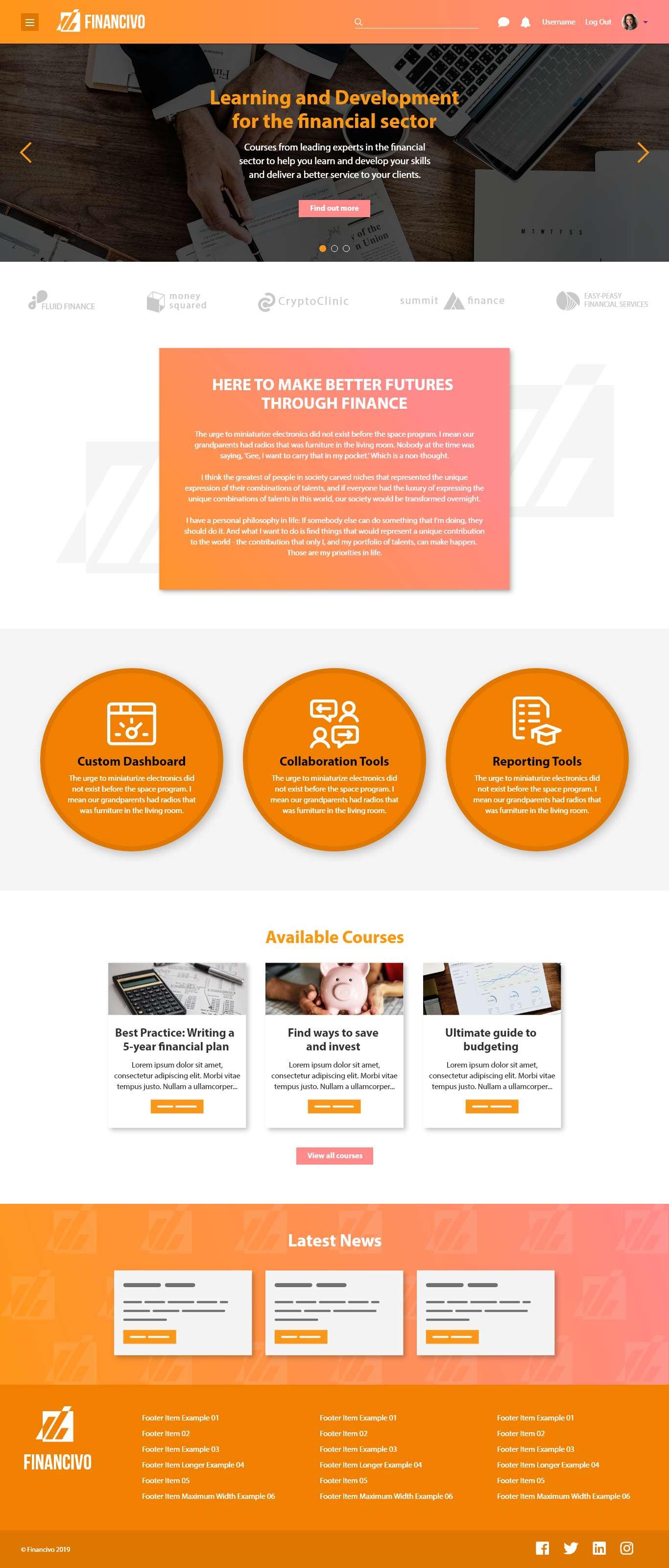 Design It - Financivo - Desktop