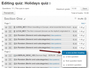 Moodle 2.9 Quiz activity