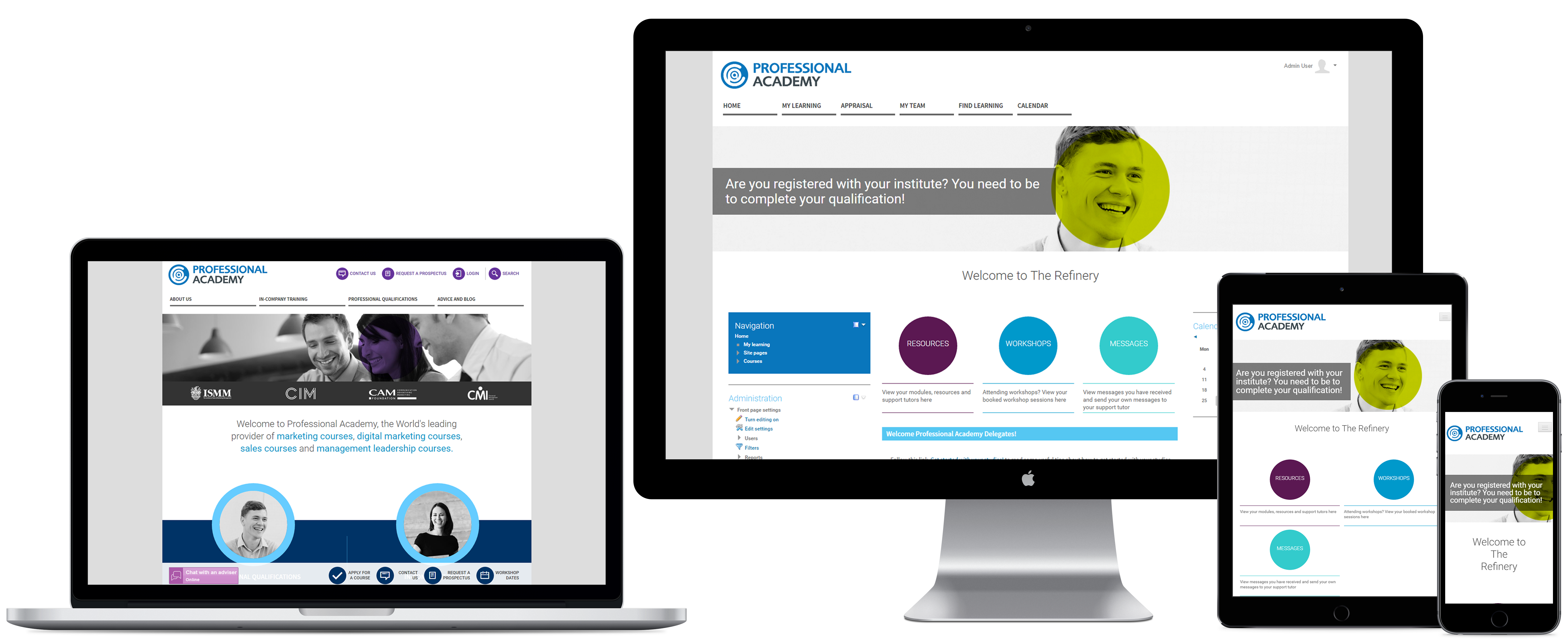 Professional Academy - Totara Learn Site - LMS Case Study