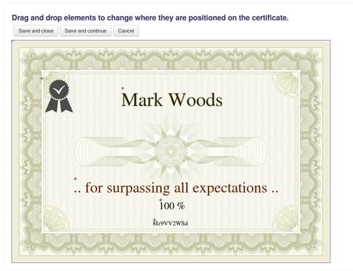 Custom certificates - Moodle - Hubken Group