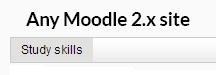 Custom Menu feature in Moodle