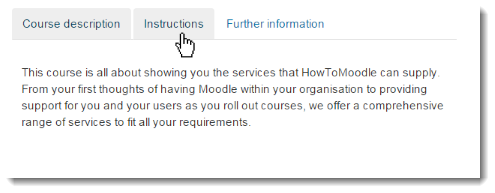 Moodle Tips: Tabs Filter