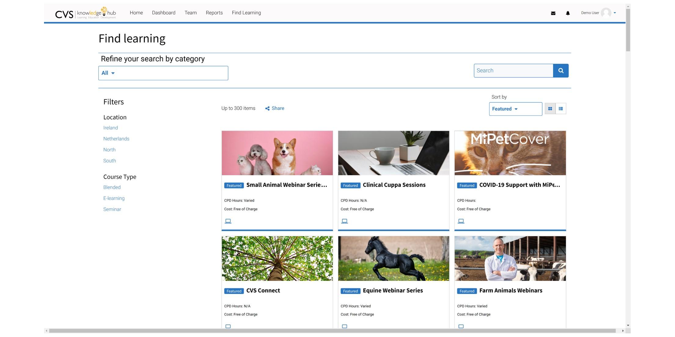 e-Learning for Veterinary - CVS Group Screenshot