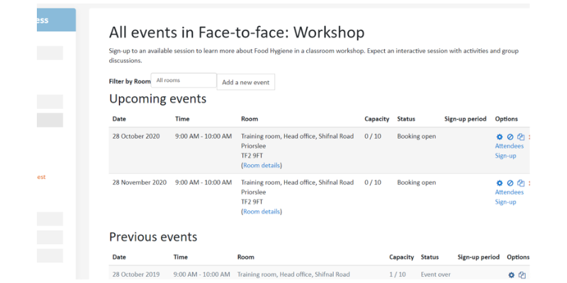 Quickly and efficiently schedule events - Totara LMS